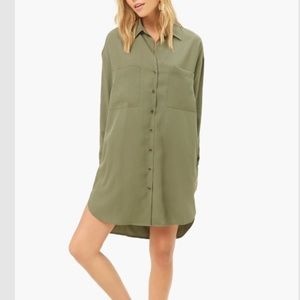 NWT Forever 21 + Olive Green Shirt Dress